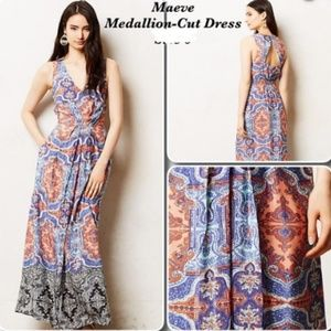 Maeve for Anthropologie Medallion Maxi Dress